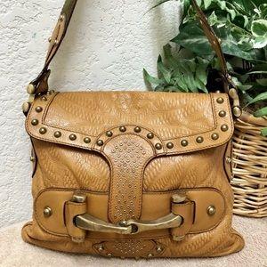 Gucci Pelham Horsebit Flap Leather Embossed Bag